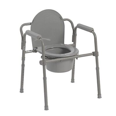 bedside commode bucket toilet Frames chair adult pot portable folding arm safety