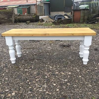 Farmhouse Dining Bench, Handcrafted Solid Pine Kitchen Bench,shabbychic,vintage