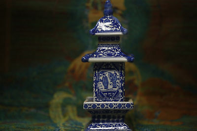 Antique Blue and white porcelain jar pagoda in ancient China &320