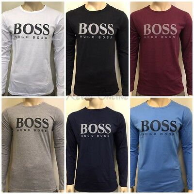 Hugo Boss Long Sleeve Crew Neck T-Shirt  For Men's/////////////////////