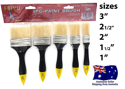 New 5 Piece DIY Paint Brush Set Painting home Decorating Tool Kit