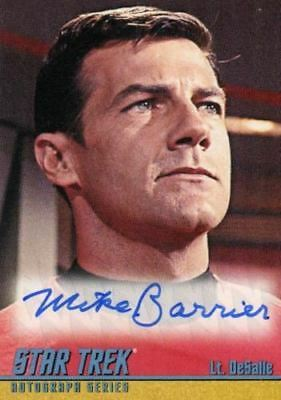 Star Trek TOS Portfolio Prints Michael Barrier Autograph Card A261