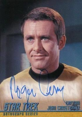Star Trek TOS Portfolio Prints Roger Perry Autograph Card A276