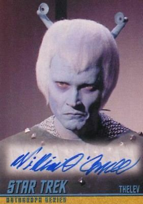 Star Trek TOS Portfolio Prints William O'Connell Autograph Card A274