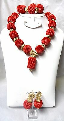 PrestigeApplause Latest Design Blue & Red Bridal Party Beads Jewellery Set