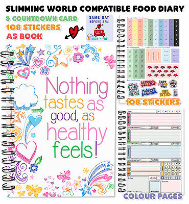food diary diet slimming world compatible tracker journal notebook log WEDDING