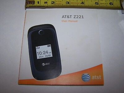At&t  ZTE Z221 User Manual from 2011