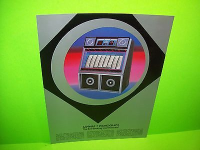 Rowe SAPPHIRE 7 Original 1983 NOS Jukebox Phonograph Music Promo Sales Flyer