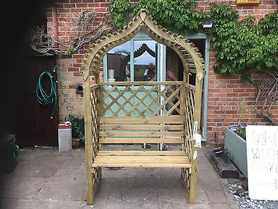 Kashmir Garden Arbour. New. Flatpack or Built. Rowlinson. CW6.PICK UP TODAY.