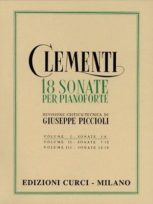 CLEMENTI - 18 SONATE Per Pianoforte - VOL. 1  - Ed. Curci