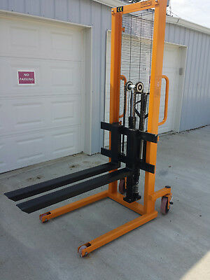 i-Lift Equip PZ Series Hand Manual Stacker for Single Faced Skid Pallets
