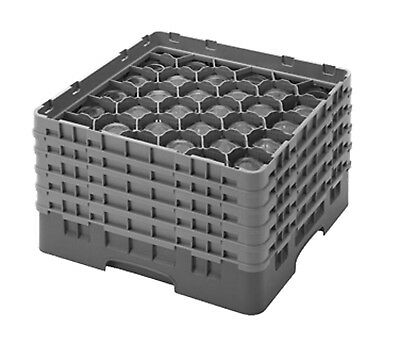 Cambro Camrack 30S958186 Full Size 30 Compartment Navy Blue Glass Rack with 5 Ex