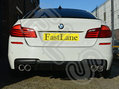 BMW 5 F10 Custom Built Stainless Steel Exhaust Rear Dual System BF105