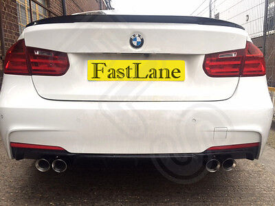 BMW 3 F30 Custom Built Stainless Steel Exhaust Cat Back System & Diffuser B35