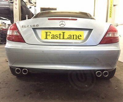 Mercedes SLK Stainless Steel Exhaust Rear Dual System & AMG Style Tips MSLK 1