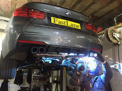 BMW 3 Series Custom Built Stainless Steel Exhaust Rear Dual System & Diffuser 49