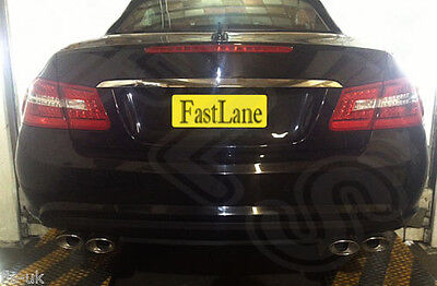 Mercedes E Class Custom Built Stainless Steel Exhaust Cat Back Dual System ME08