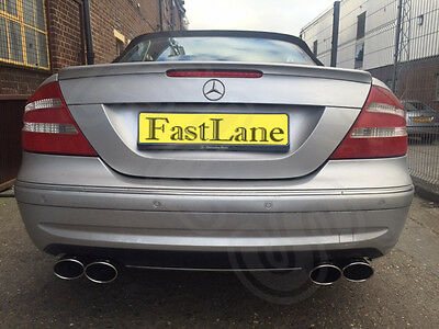 Mercedes CLK Stainless Steel Exhaust Cat Back Dual System AMG Style Tips MC10