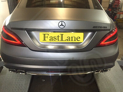 Mercedes Stainless Steel Exhaust Rear Dual System AMG Style Tail Pipes 12CLS-TP2