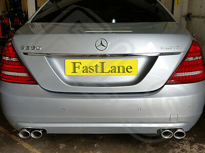 Mercedes S Class Custom Built Stainless Steel Exhaust Cat Back Dual System MS05