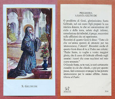 Santino Holy Card: S. Geltrude - Ed. PACO 314