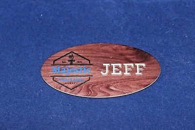 Personalized Full Color Name Badge - Oval Tag 1x3 Customized the Way You Want It