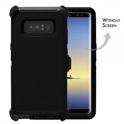 New For Samsung Galaxy Note 8 Defender Rugged Case Cover w(Clip Fits Otterbox)BK