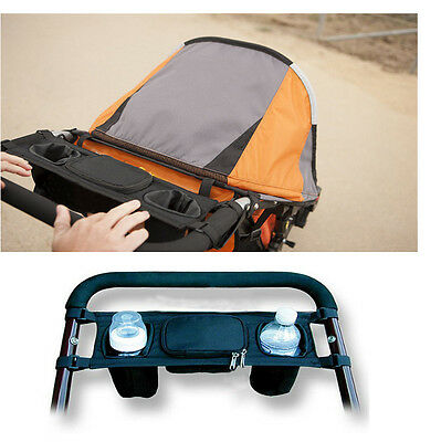 Babys Stroller Pushchair Safe Console Tray  Hanging Bag Milk Bottle Cup Holder
