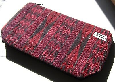 Colorful New Guatemalan Expandable Bottom Zipper Lined Cosmetic Pouch/clutch *