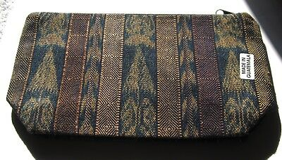 Colorful New Guatemalan Expandable Bottom Zipper Lined Cosmetic Pouch/clutch ^