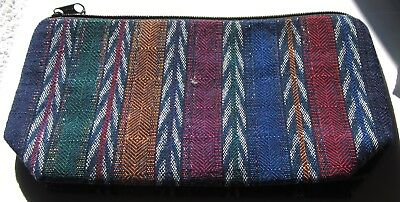 Colorful New Guatemalan Expandable Bottom Zipper Lined Cosmetic Pouch/clutch^