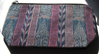 Colorful New Guatemalan Expandable Bottom Zipper Lined Cosmetic Pouch/clutch@