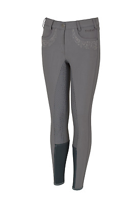 Pikeur Kalotta Girls Grip Full Seat Breeches - Grey