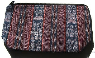 Colorful New Guatemalan Expandable Bottom Zipper Lined Cosmetic Pouch/clutch~