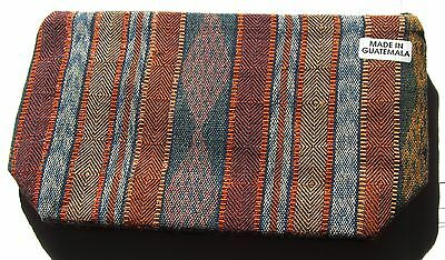 Colorful New Guatemalan Expandable Bottom Zipper Lined Cosmetic Pouch/clutch`