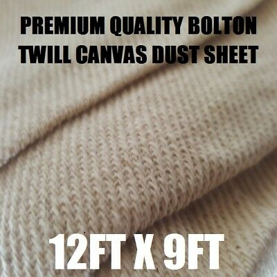 Heavy Weight 2.5k Bolton Twill Professional Tough  Quality Dust Sheet 12ft x 9ft