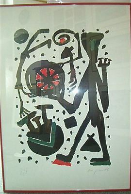 A. r. Penck: farboffset by 1989, Signed and num. Very Small Edition! RARE