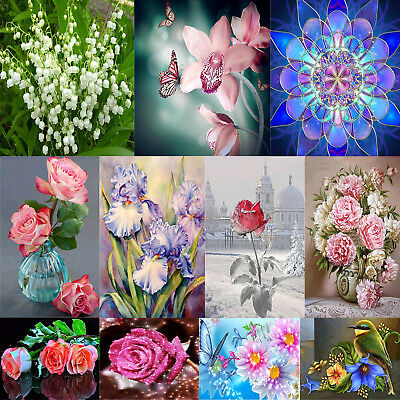 5D DIY Diamond Painting Flower Embroidery Cross Crafts Stitch Home Wall Decor