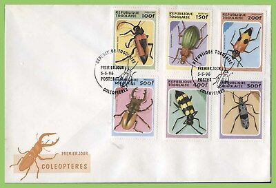Togo 1996 Beetles set on First Day Cover