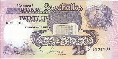 Seychelles Banknote P 33-4901  25 Rupees  Extra Fine Plus