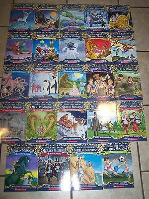 24 NEW Magic Tree House Volumes 29-53 Lot Set Merlin Mission Books $120 Osborne