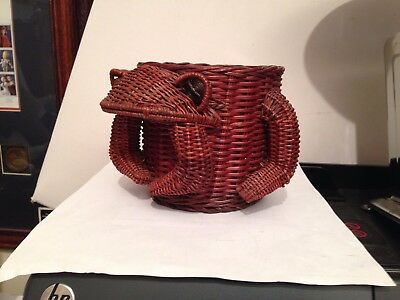 Frog Shaped Basket - Looks  Like a Frog - Could Set Plants In It