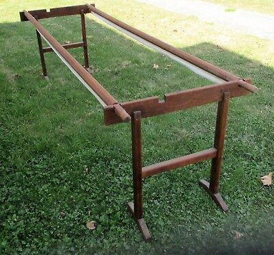 Antique Primitive Wood Quilting Stand Wooden Quilt Frame for Hand Quilting Bee