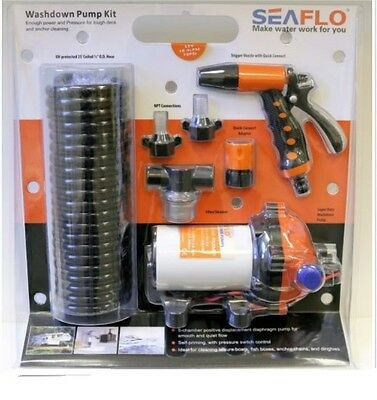 Seaflo 12v 5,5 gpm 70 psi washdown pump kit