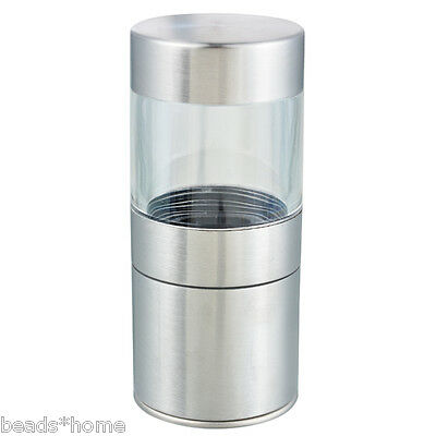 Stainless Steel Manual Salt Pepper Mill Grinder Kitchen Mill Muller Tool