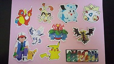 POKEMON sticker PACK OF 10 decal laptop wall unused uncut quality 4