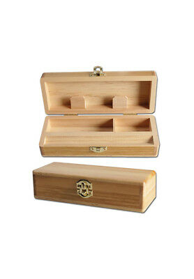 Spliff Box - klein Wooden Roll Tray BLACK LEAF joint Dreh box aus Holz NEU !!!
