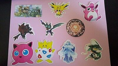 POKEMON sticker PACK OF 10 decal laptop wall unused uncut quality 6