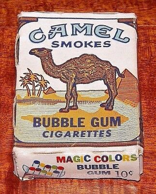 Vintage 10 Cent Camel Smokes Magic Colors Bubble Gum Cigarettes Empty Pack *HTF*