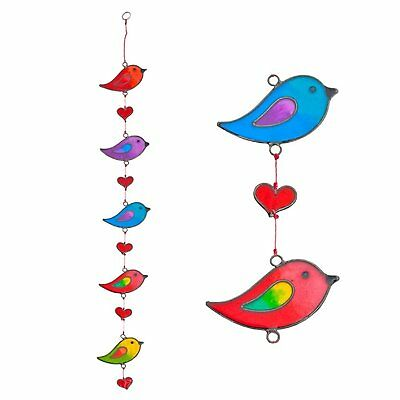 Suncatchers Colorful Bird Stained Glass Effect Resin Mobile - Beautiful Window -